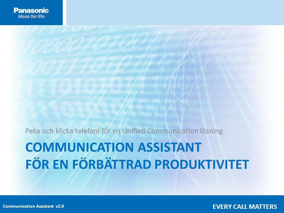COMMUNICATION ASSISTANT FÖR EN FÖRBÄTTRAD PRODUKTIVITET