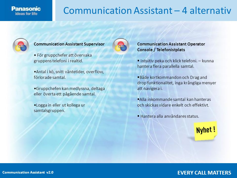 Communication Assistant – 4 alternativ