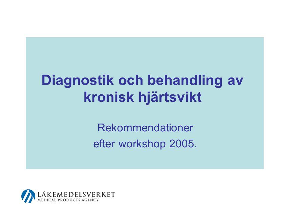 Diagnostik och behandling av kronisk hjärtsvikt