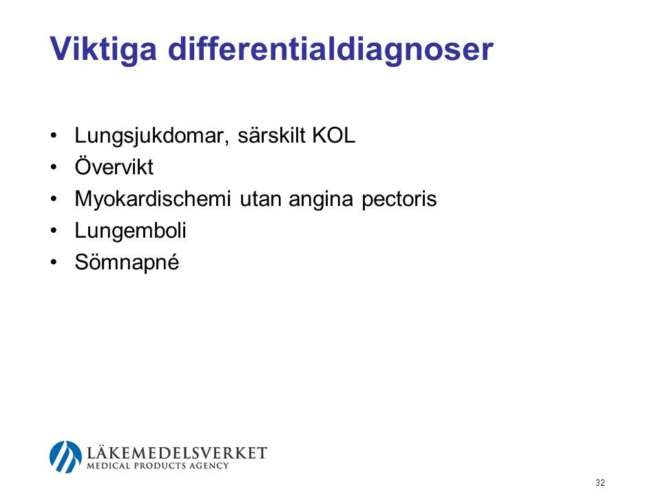 Viktiga differentialdiagnoser