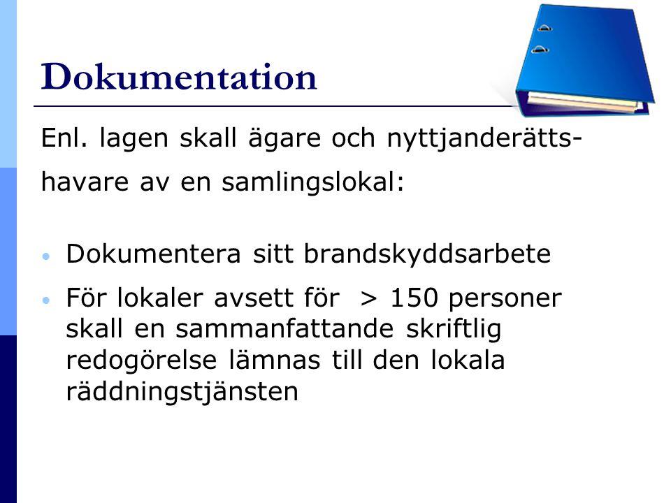 Dokumentation Enl. lagen skall ägare och nyttjanderätts-
