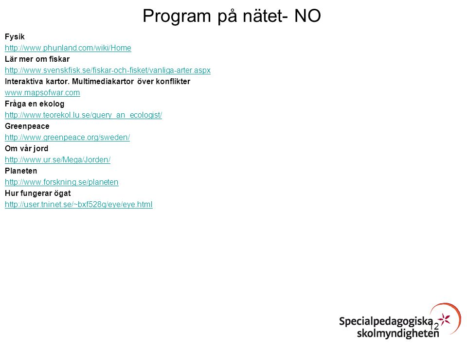 Program på nätet- NO