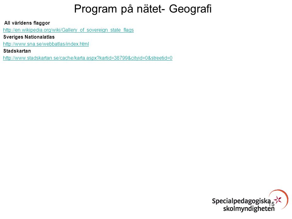 Program på nätet- Geografi