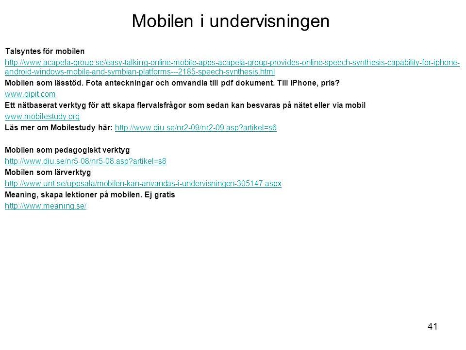 Mobilen i undervisningen