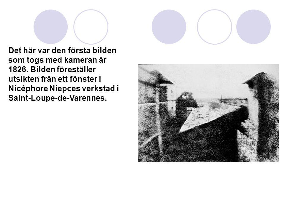 Det här var den första bilden som togs med kameran år 1826