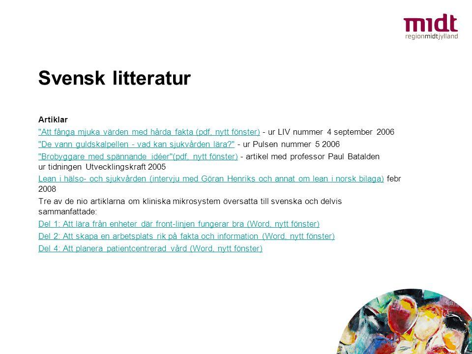 Svensk litteratur Artiklar