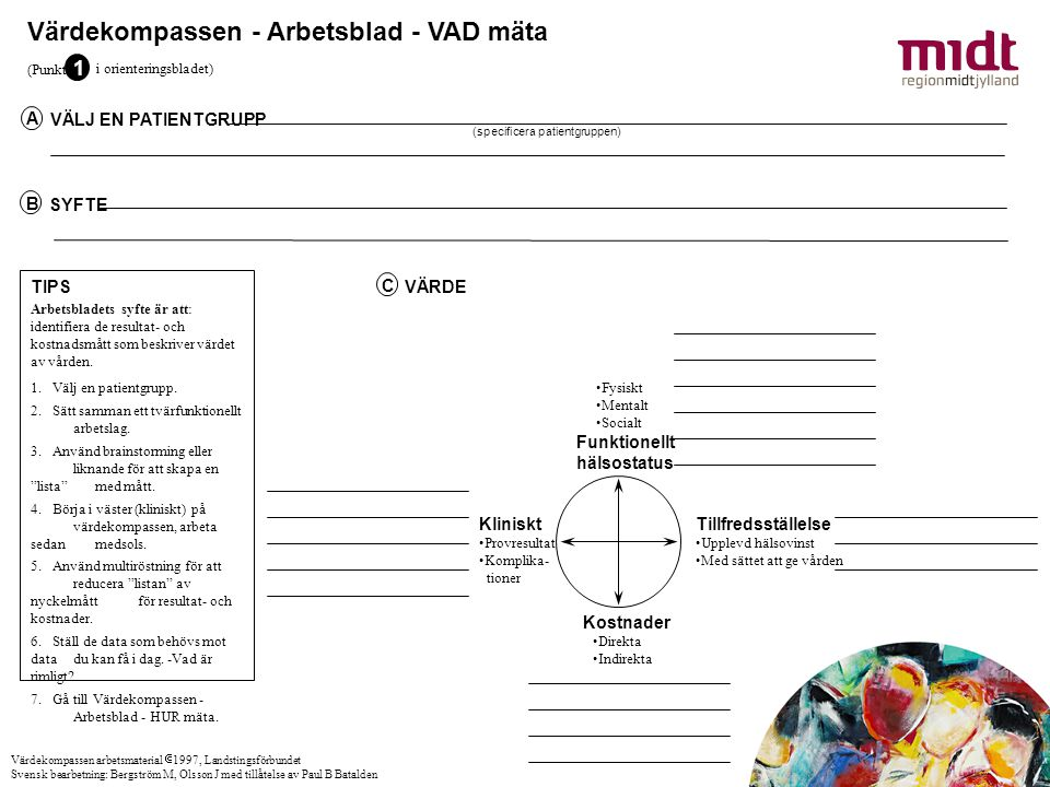 Värdekompassen - Arbetsblad - VAD mäta