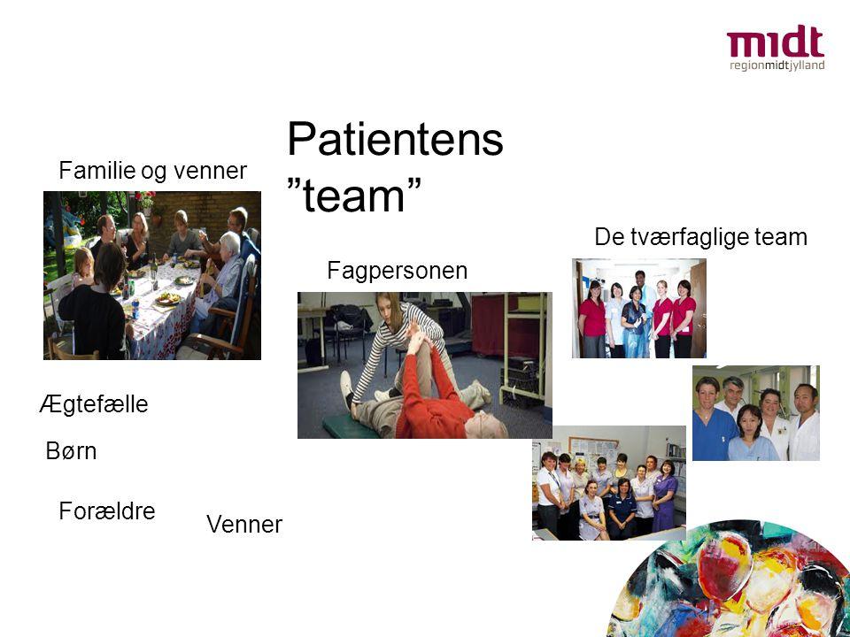 Patientens team Familie og venner De tværfaglige team Fagpersonen