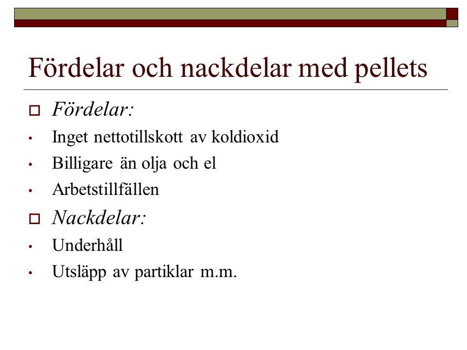 Fördelar och nackdelar med pellets