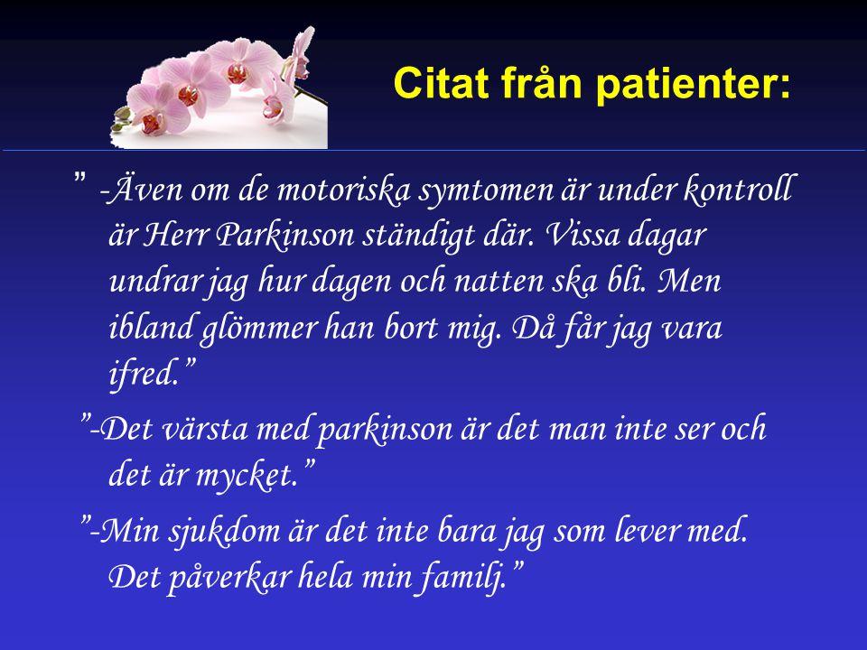 Citat från patienter: