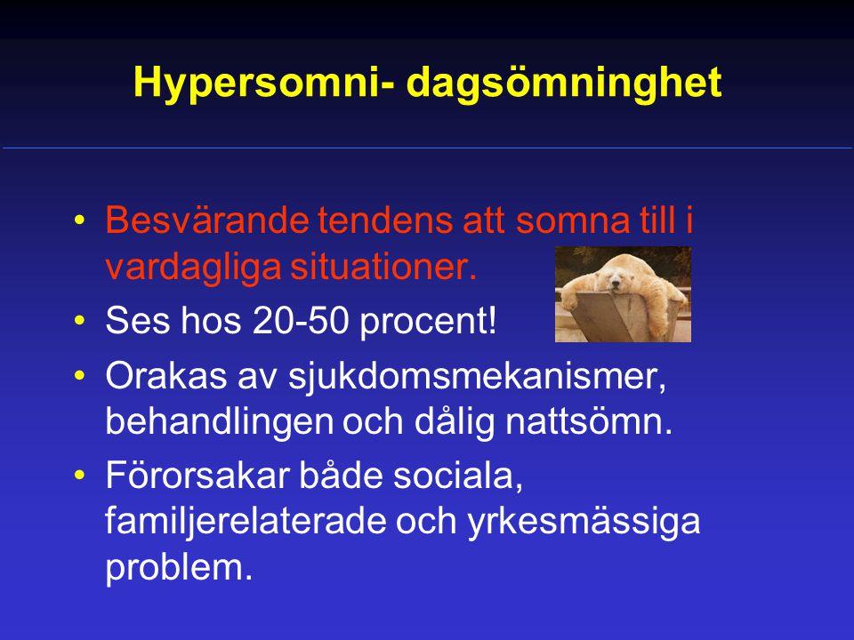 Hypersomni- dagsömninghet