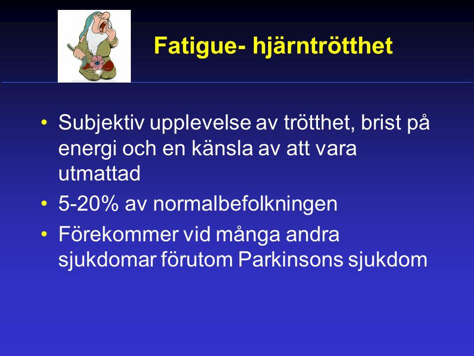 Fatigue- hjärntrötthet