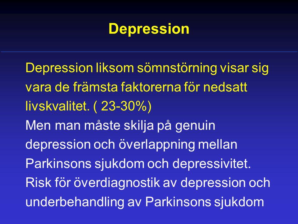 Depression Depression liksom sömnstörning visar sig