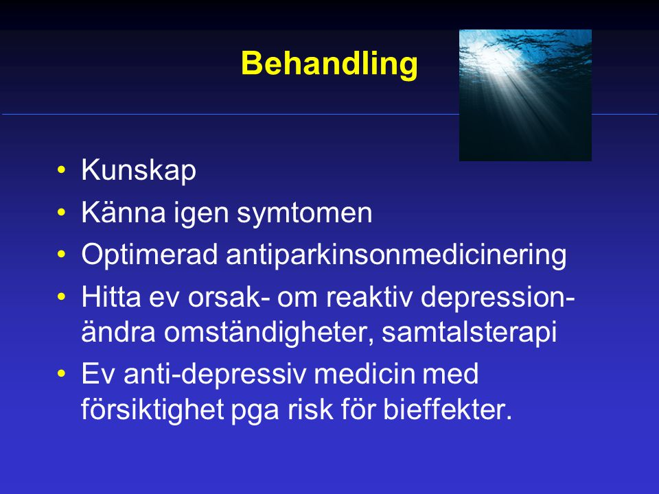 Behandling Kunskap Känna igen symtomen