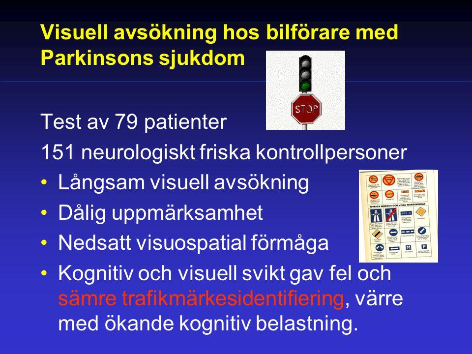 Visuell avsökning hos bilförare med Parkinsons sjukdom