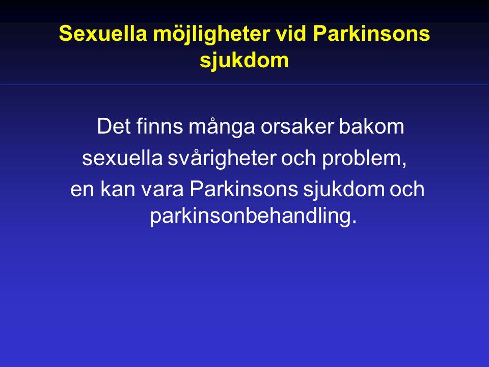 Sexuella möjligheter vid Parkinsons sjukdom