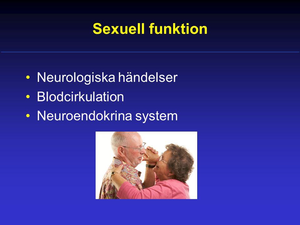 Sexuell funktion Neurologiska händelser Blodcirkulation