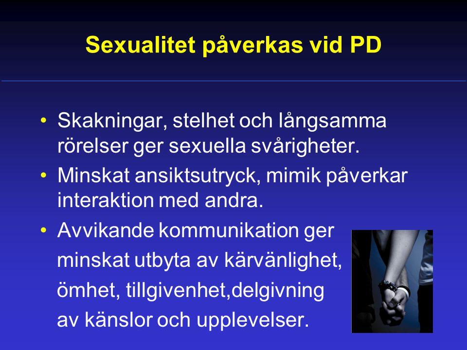 Sexualitet påverkas vid PD