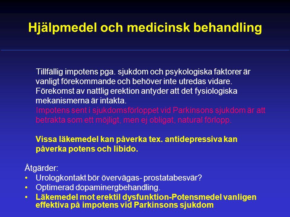 Hjälpmedel och medicinsk behandling