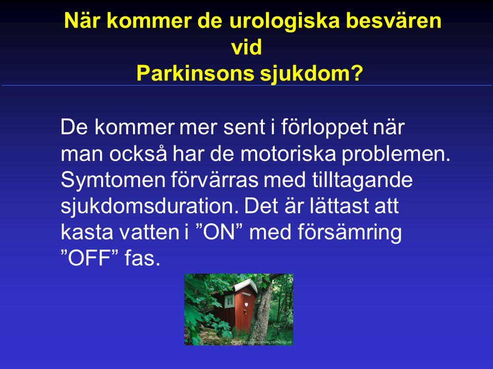 När kommer de urologiska besvären vid Parkinsons sjukdom
