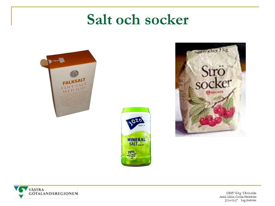 Salt och socker