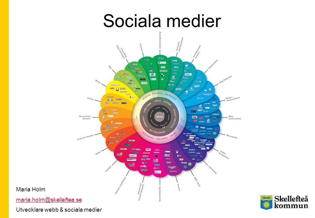 Sociala medier Maria Holm maria.holm@skelleftea.se
