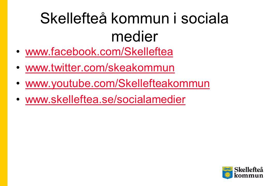 Skellefteå kommun i sociala medier