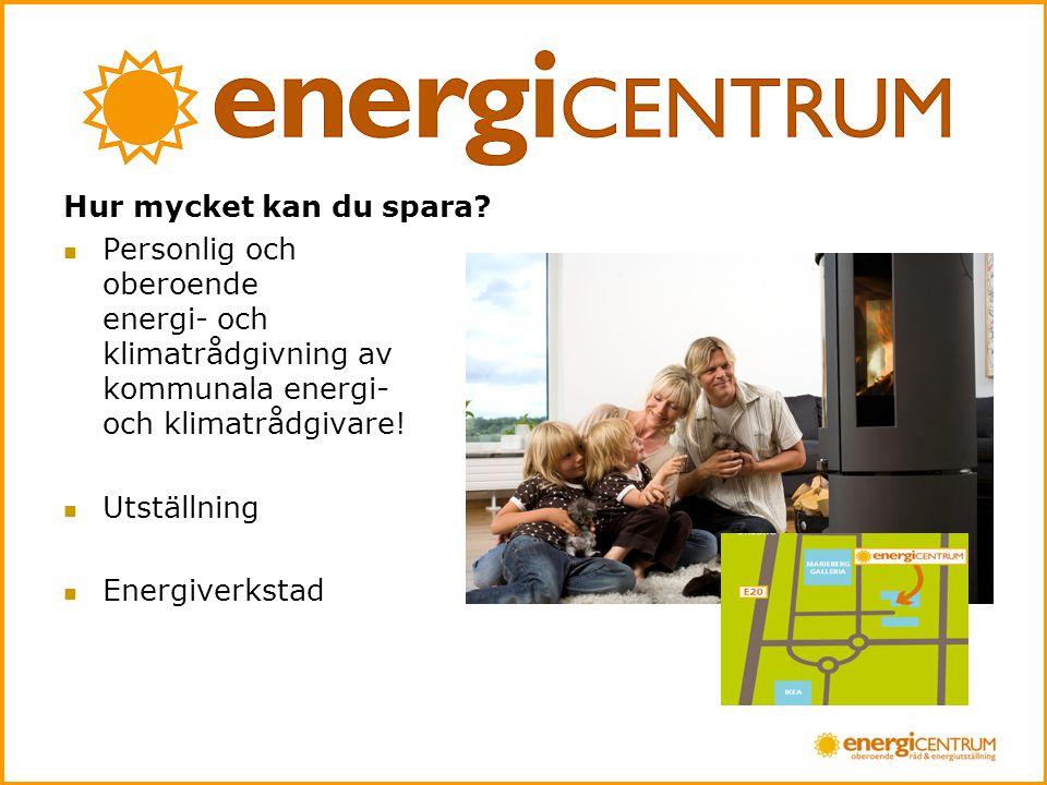 Hur mycket kan du spara Personlig och oberoende energi- och klimatrådgivning av kommunala energi- och klimatrådgivare!