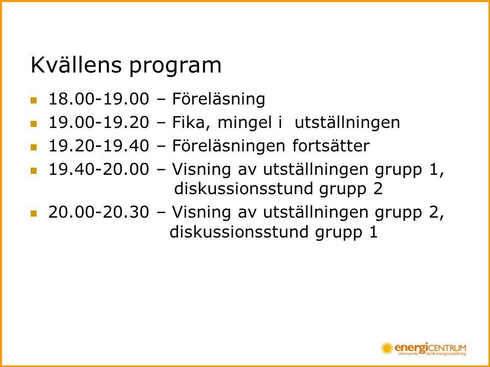 Kvällens program 18.00-19.00 – Föreläsning