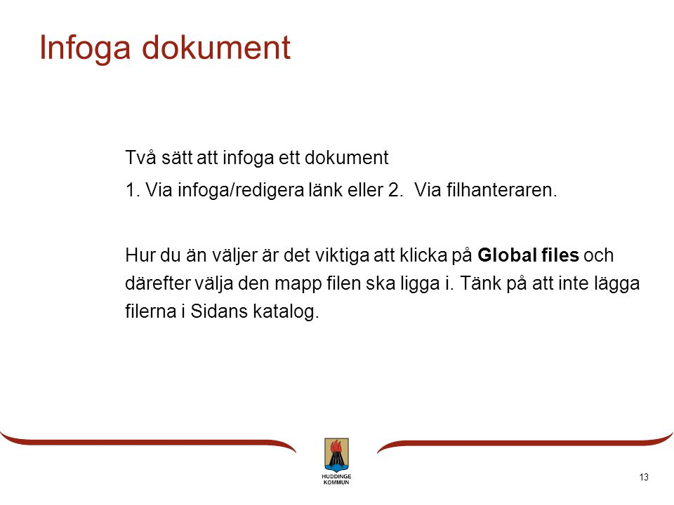 Infoga dokument