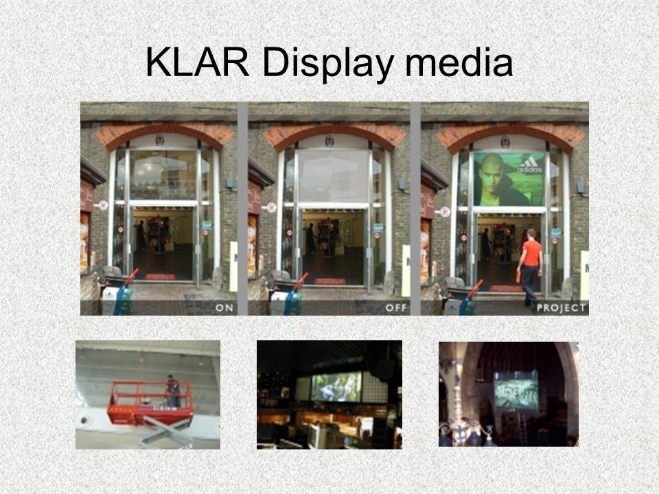 KLAR Display media