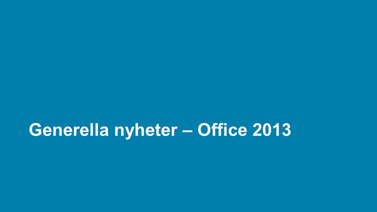 Generella nyheter – Office 2013
