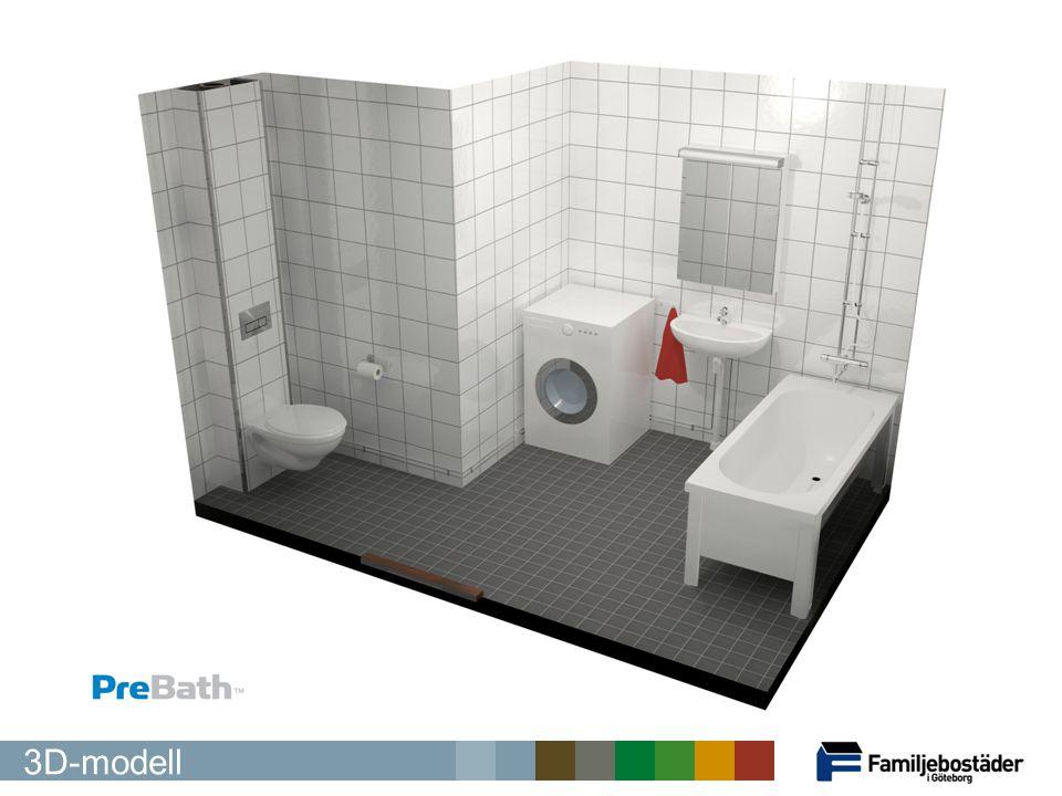 Här ser ni en 3D-modell av det nya badrummet med badkar