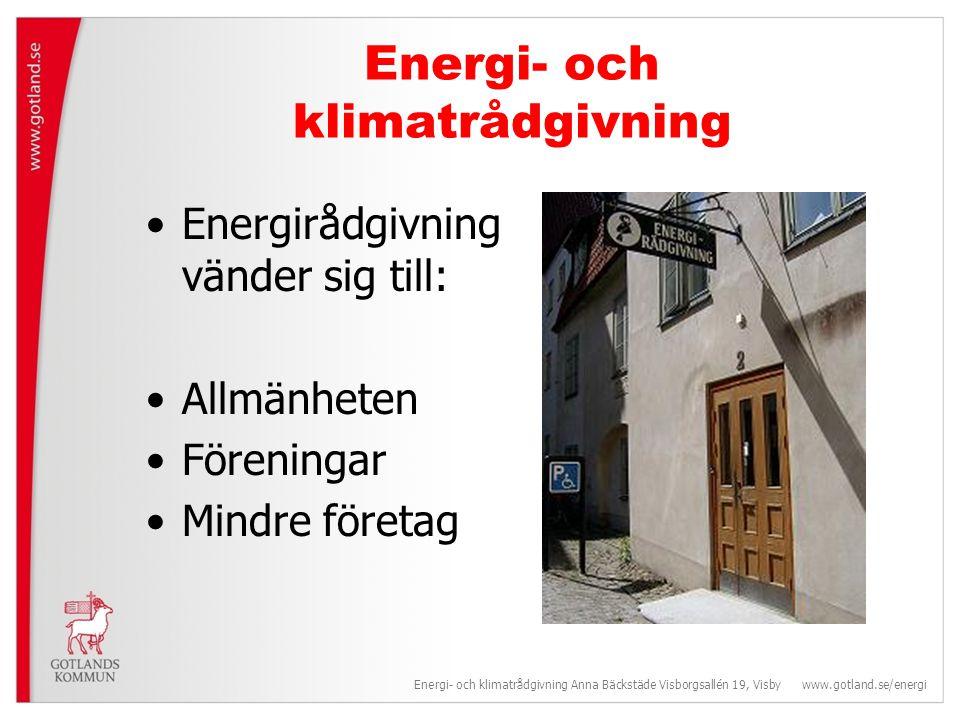 Energi- och klimatrådgivning