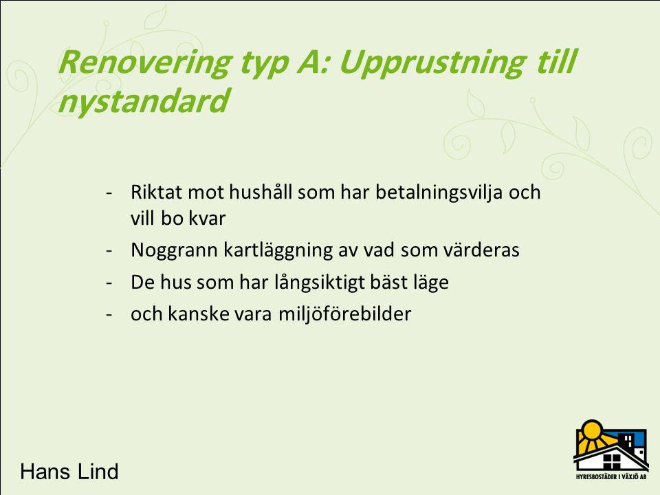 Renovering typ A: Upprustning till nystandard
