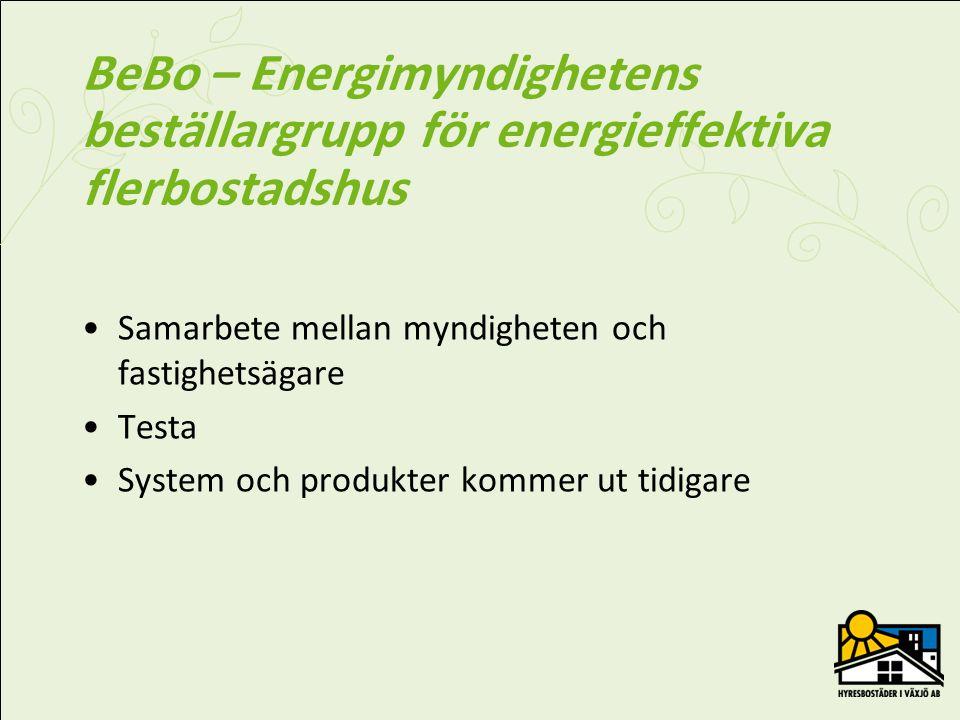 BeBo – Energimyndighetens beställargrupp för energieffektiva flerbostadshus