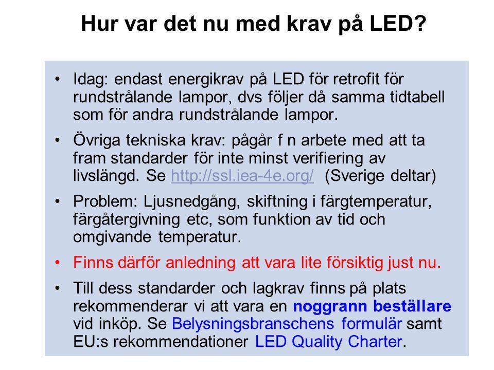 Hur var det nu med krav på LED