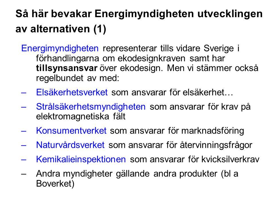 Så här bevakar Energimyndigheten utvecklingen av alternativen (1)
