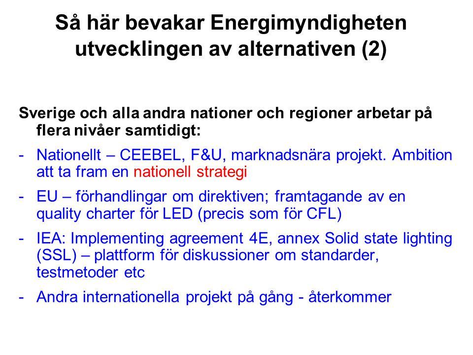 Så här bevakar Energimyndigheten utvecklingen av alternativen (2)