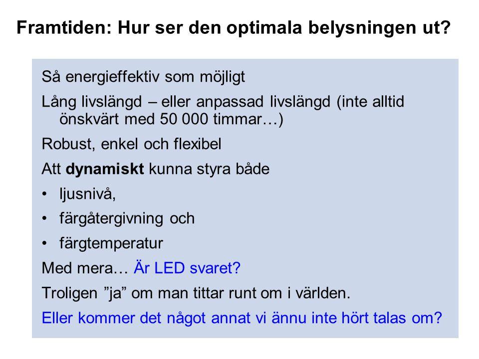 Framtiden: Hur ser den optimala belysningen ut
