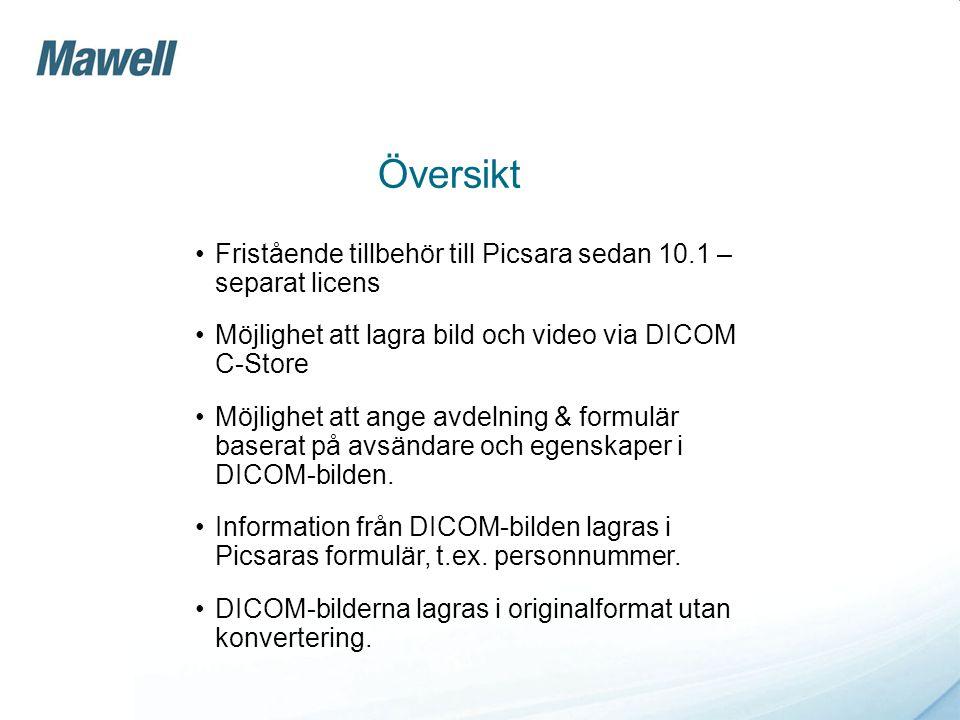 Översikt Fristående tillbehör till Picsara sedan 10.1 – separat licens