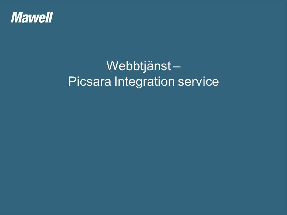 Webbtjänst – Picsara Integration service