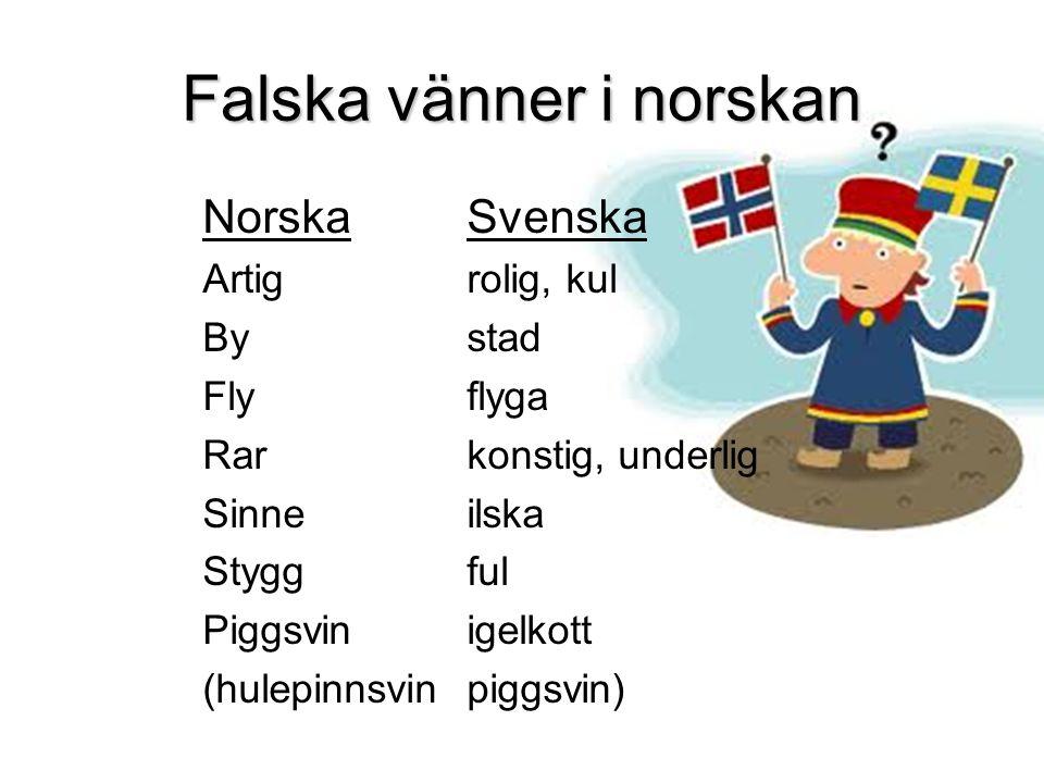Falska vänner i norskan