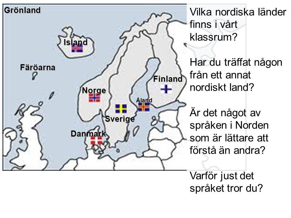 Vilka nordiska länder finns i vårt klassrum