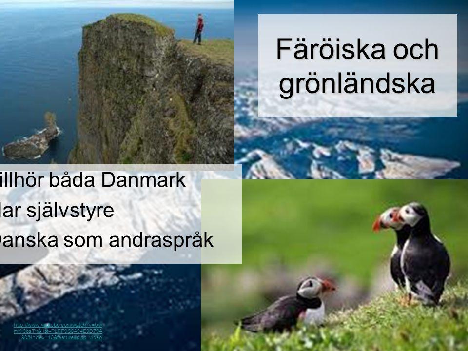 Färöiska och grönländska