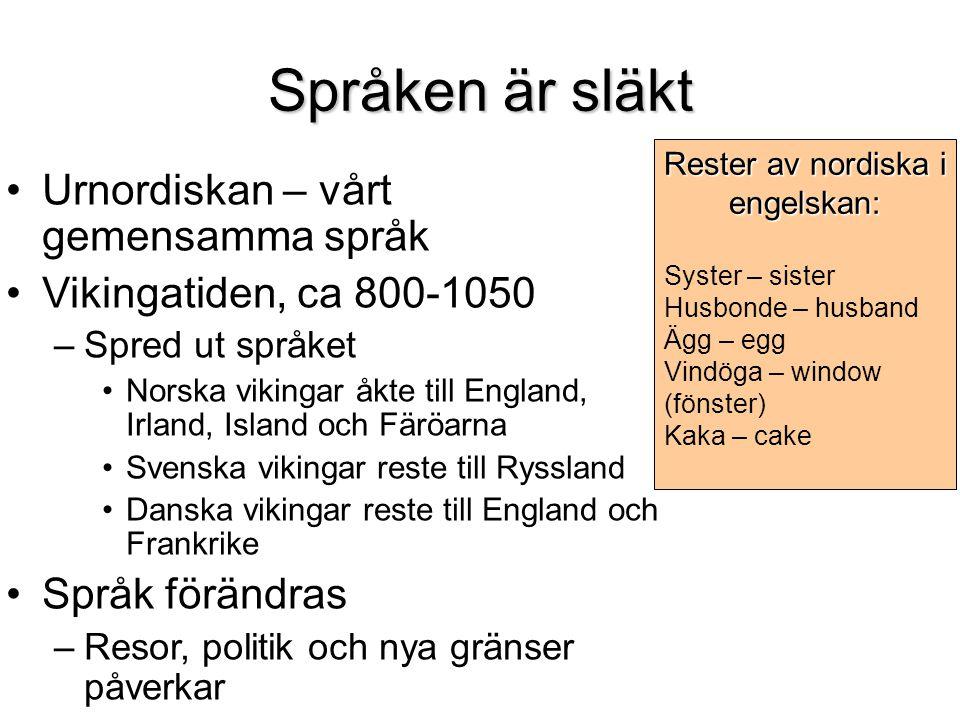 Rester av nordiska i engelskan: