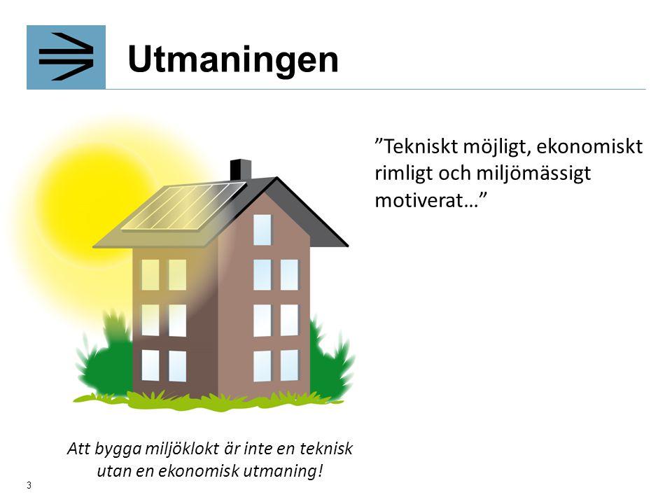 Att bygga miljöklokt är inte en teknisk utan en ekonomisk utmaning!