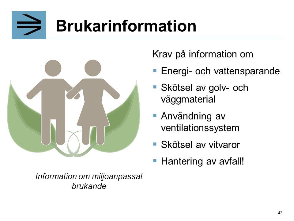 Information om miljöanpassat brukande