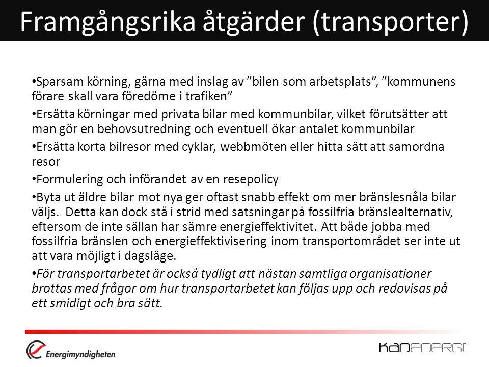 Framgångsrika åtgärder (transporter)