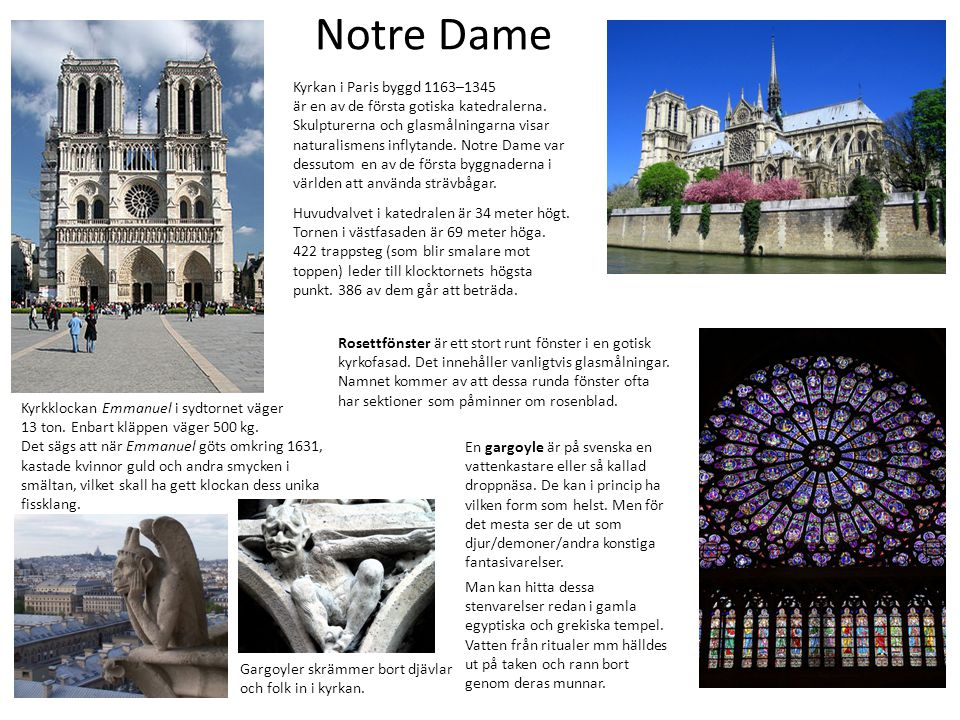 Notre Dame Kyrkan i Paris byggd 1163–1345